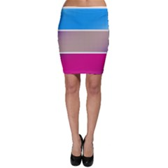 Pattern Template Banner Background Bodycon Skirt by BangZart