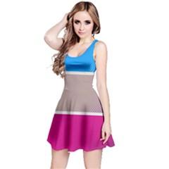 Pattern Template Banner Background Reversible Sleeveless Dress