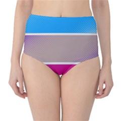 Pattern Template Banner Background High Waist Bikini Bottoms