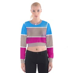 Pattern Template Banner Background Cropped Sweatshirt