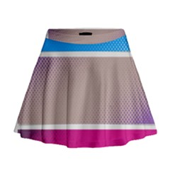 Pattern Template Banner Background Mini Flare Skirt