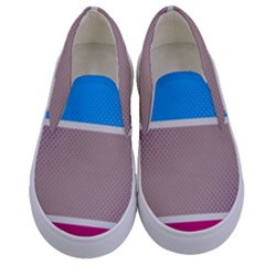Pattern Template Banner Background Kids  Canvas Slip Ons