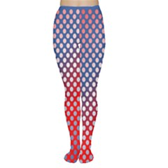 Dots Red White Blue Gradient Women s Tights