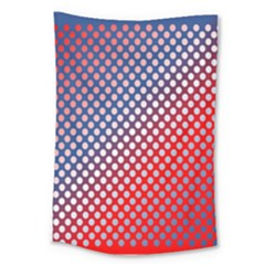Dots Red White Blue Gradient Large Tapestry