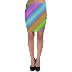 Background Course Abstract Pattern Bodycon Skirt