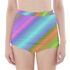 Background Course Abstract Pattern High Waisted Bikini Bottoms