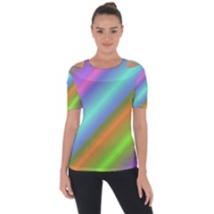 Background Course Abstract Pattern Short Sleeve Top
