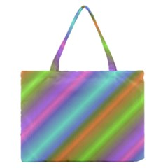 Background Course Abstract Pattern Zipper Medium Tote Bag