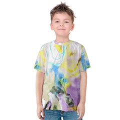 Watercolour Watercolor Paint Ink Kids  Cotton Tee by BangZart
