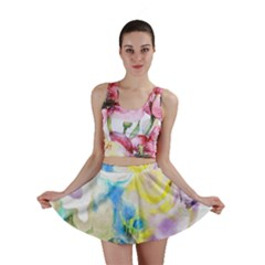 Watercolour Watercolor Paint Ink Mini Skirt