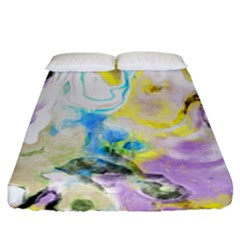 Watercolour Watercolor Paint Ink Fitted Sheet (california King Size)