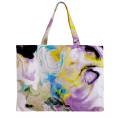 Watercolour Watercolor Paint Ink Zipper Mini Tote Bag