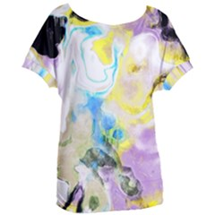 Watercolour Watercolor Paint Ink Women s Oversized Tee