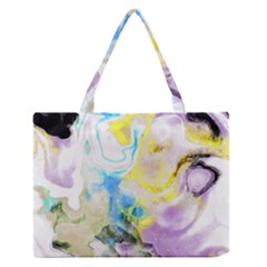 Watercolour Watercolor Paint Ink Zipper Medium Tote Bag