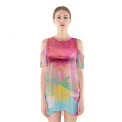 Watercolour Gradient Shoulder Cutout One Piece