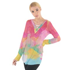 Watercolour Gradient Tie Up Tee