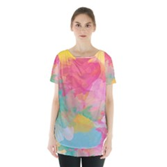 Watercolour Gradient Skirt Hem Sports Top