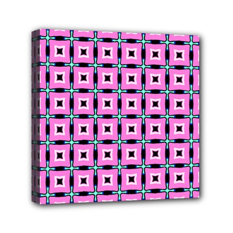 Pattern Pink Squares Square Texture Canvas Travel Bag