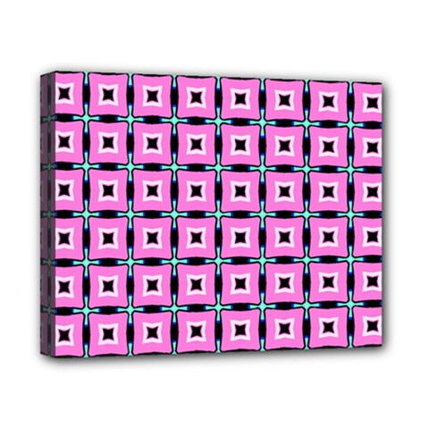 Pattern Pink Squares Square Texture Canvas 10  X 8