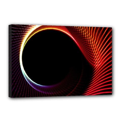 Grid Bent Vibration Ease Bend Canvas 18  X 12