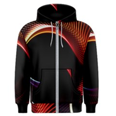 Grid Bent Vibration Ease Bend Men s Zipper Hoodie