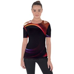 Grid Bent Vibration Ease Bend Short Sleeve Top