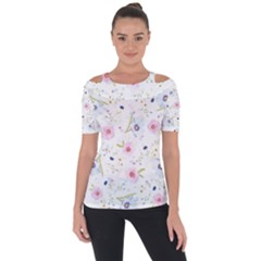 Floral Pattern Background Short Sleeve Top