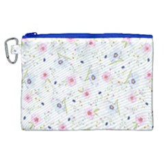 Floral Pattern Background Canvas Cosmetic Bag (xl) by BangZart