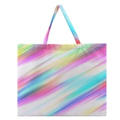 Background Course Abstract Pattern Zipper Large Tote Bag