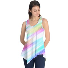 Background Course Abstract Pattern Sleeveless Tunic