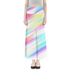 Background Course Abstract Pattern Full Length Maxi Skirt