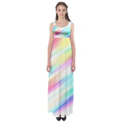 Background Course Abstract Pattern Empire Waist Maxi Dress