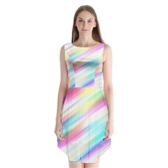 Background Course Abstract Pattern Sleeveless Chiffon Dress