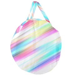 Background Course Abstract Pattern Giant Round Zipper Tote