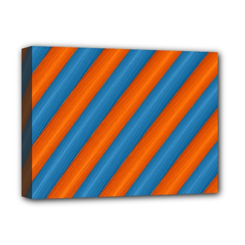 Diagonal Stripes Striped Lines Deluxe Canvas 16  X 12
