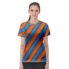 Diagonal Stripes Striped Lines Women s Sport Mesh Tee