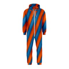 Diagonal Stripes Striped Lines Hooded Jumpsuit (kids)