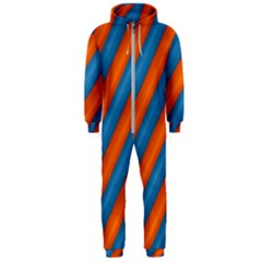 Diagonal Stripes Striped Lines Hooded Jumpsuit (men)
