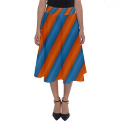 Diagonal Stripes Striped Lines Perfect Length Midi Skirt