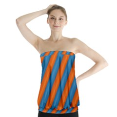 Diagonal Stripes Striped Lines Strapless Top