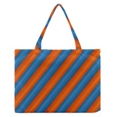 Diagonal Stripes Striped Lines Zipper Medium Tote Bag