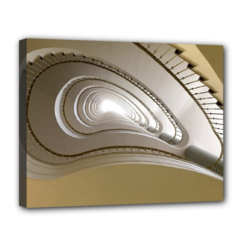 Staircase Berlin Architecture Canvas 14  X 11