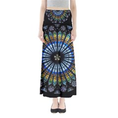 Rose Window Strasbourg Cathedral Full Length Maxi Skirt