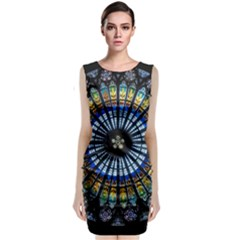Rose Window Strasbourg Cathedral Classic Sleeveless Midi Dress