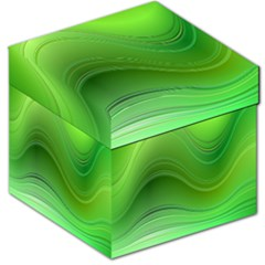Green Wave Background Abstract Storage Stool 12