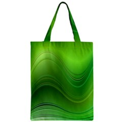 Green Wave Background Abstract Zipper Classic Tote Bag