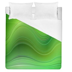 Green Wave Background Abstract Duvet Cover (queen Size) by BangZart
