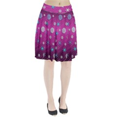 Snowflakes 3d Random Overlay Pleated Skirt by BangZart