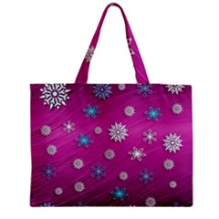 Snowflakes 3d Random Overlay Medium Tote Bag