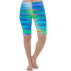 Wave Rainbow Bright Texture Cropped Leggings